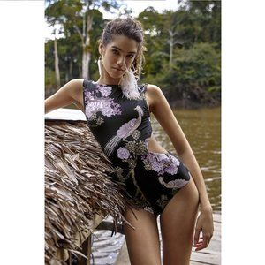 NWT Aguaclara Swimwear Retro Rosa One Piece